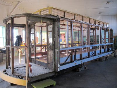 Photo of trolley in December, 2009 - topped off.