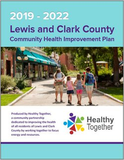 Cover of 2019-2022 Lewis and Clark County Community Health Improvement Plan